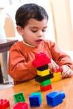 El jugar con los bloques Foto de archivo libre de regalías