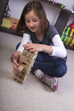 El jugar con los bloques huecos Fotografía de archivo libre de regalías