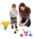 El jugar con los cubos Imagen de archivo libre de regalías