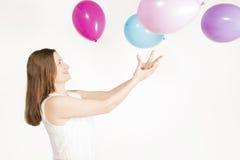 El jugar con los globos Foto de archivo