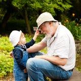 El jugar con los sombreros Foto de archivo libre de regalías