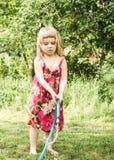 El jugar de la muchacha Imagen de archivo libre de regalías