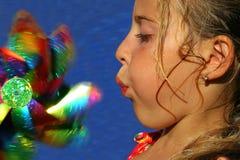 El jugar de la niña Imagen de archivo libre de regalías
