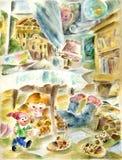 El jugar de la niña stock de ilustración