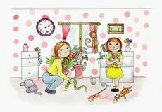 el jugar de la niña Imágenes de archivo libres de regalías