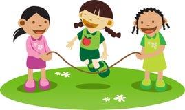 El jugar de las muchachas de Litle Foto de archivo libre de regalías
