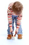 El jugar de Little Boy Imagen de archivo libre de regalías
