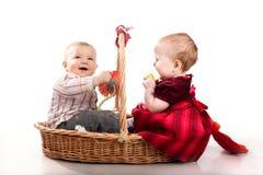 El jugar de los bebés Imagen de archivo libre de regalías