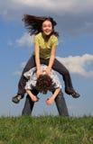 El jugar de los cabritos Foto de archivo libre de regalías