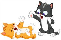 El jugar de los gatitos stock de ilustración