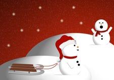 El jugar de los muñecos de nieve Fotos de archivo libres de regalías