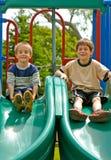 El jugar de los muchachos Foto de archivo libre de regalías