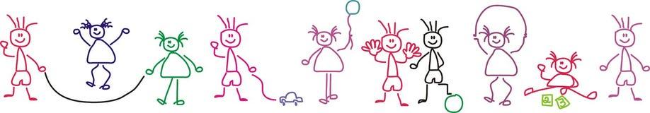El jugar de los niños ilustración del vector