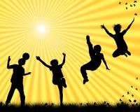 El jugar de los niños Fotografía de archivo libre de regalías