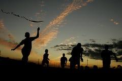El jugar de los niños de Sun Fotografía de archivo