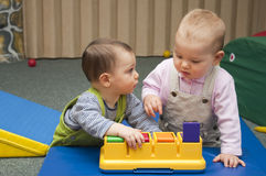 El jugar de los niños Imagen de archivo libre de regalías