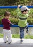El jugar de los niños Foto de archivo libre de regalías