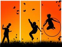 El jugar de los niños Foto de archivo