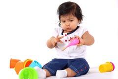 El jugar del bebé fotos de archivo
