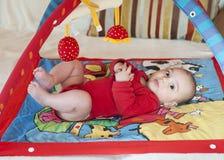 El jugar del bebé Imagen de archivo libre de regalías