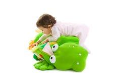 El jugar del bebé aislado Fotos de archivo libres de regalías