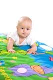 El jugar del bebé aislado Fotografía de archivo