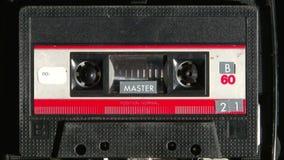 El jugar del casete audio almacen de video