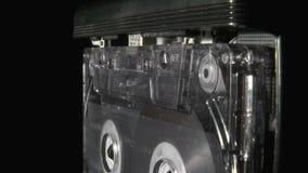 El jugar del casete audio almacen de metraje de vídeo