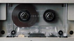 El jugar del casete audio del vintage almacen de metraje de vídeo
