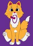 El jugar del gatito del jengibre Imágenes de archivo libres de regalías