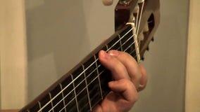 El jugar del guitarrista almacen de video