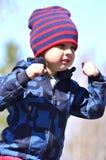 El jugar del muchacho Foto de archivo libre de regalías