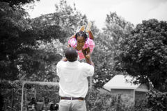 El jugar del padre y de la hija Fotografía de archivo