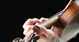 El jugar del violinista - primer de sus manos almacen de video