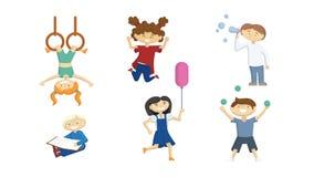 El jugar divertido de los niños Imagen de archivo
