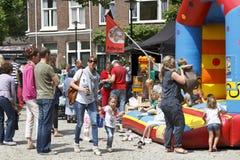 El jugar en el mercado del cisne Foto de archivo