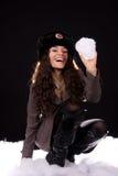 El jugar en la nieve Fotografía de archivo libre de regalías