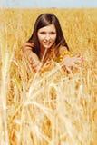 El jugar en la planta del trigo Fotografía de archivo