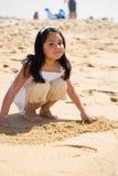 El jugar en la playa Imagen de archivo libre de regalías