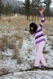 El jugar en nieve Foto de archivo