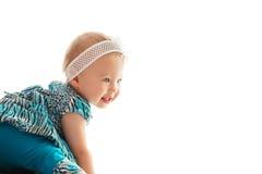 El jugar feliz del bebé Fotos de archivo
