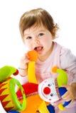 El jugar feliz del bebé Foto de archivo libre de regalías
