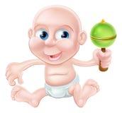 El jugar feliz del bebé de la historieta Fotos de archivo