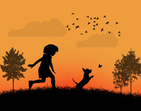 El jugar feliz del niño Ilustración del Vector