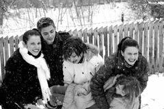 El jugar hermoso de la gente joven Imagenes de archivo