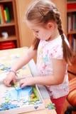 El jugar lindo del niño Fotografía de archivo libre de regalías