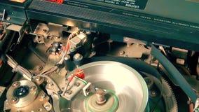 El jugar profesional del comienzo de la grabadora de la televisión de VHS almacen de metraje de vídeo