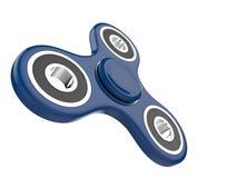El juguete azul del alivio de tensión del HILANDERO de la persona agitada en blanco aisló el fondo ilustración 3D Imagenes de archivo