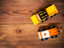 El juguete de los niños en el piso Fotos de archivo libres de regalías