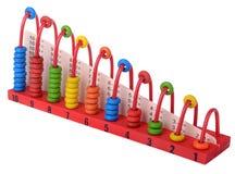 El juguete de madera anota bloques coloridos Fotos de archivo libres de regalías